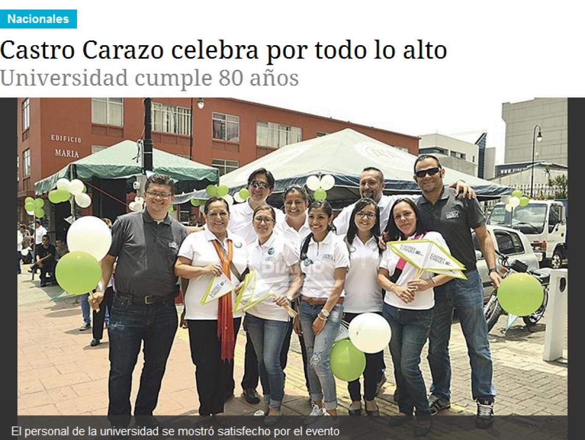 Castro Carazo celebra por todo lo alto