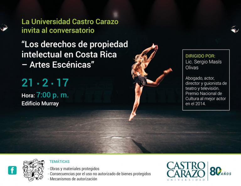 """Conversatorio """"Los derechos de propiedad intelectual en Costa Rica - Artes Escénicas"""