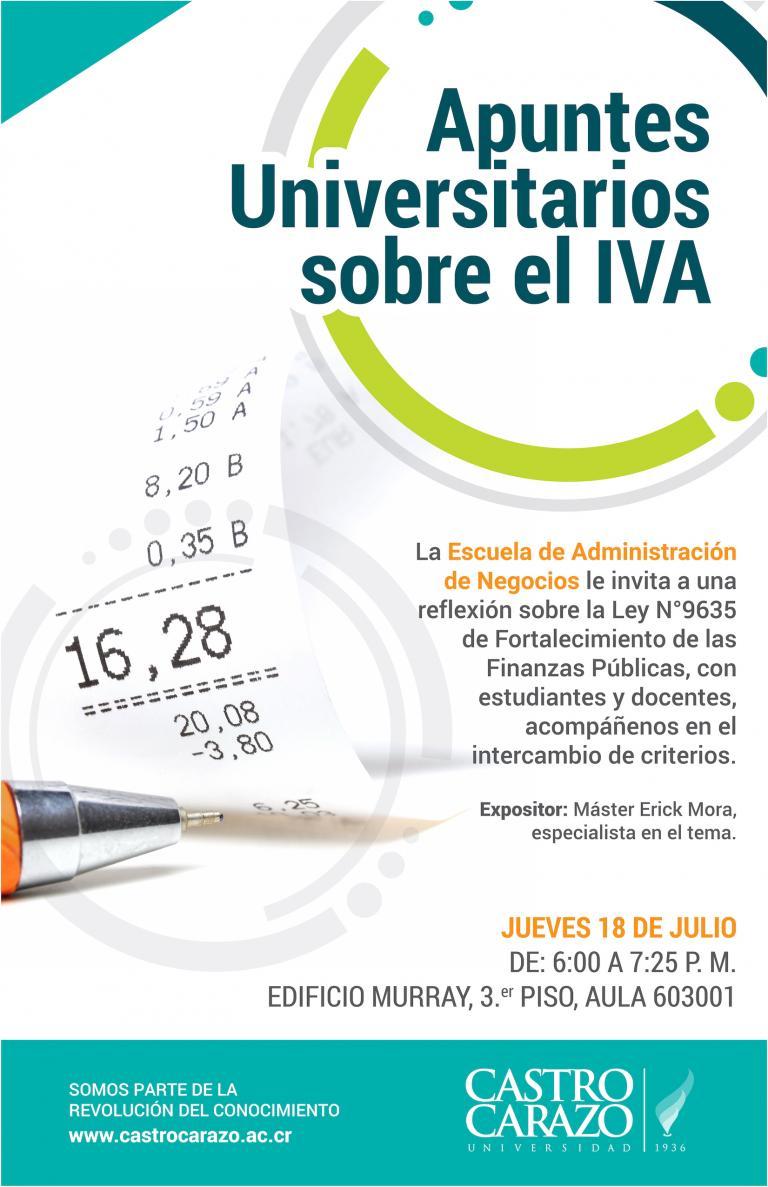 Apuntes Universitarios sobre el IVA