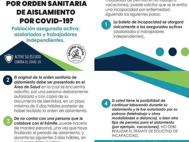 ¿Cómo gestionar una incapacidad por orden sanitaria de aislamiento Covid-19?