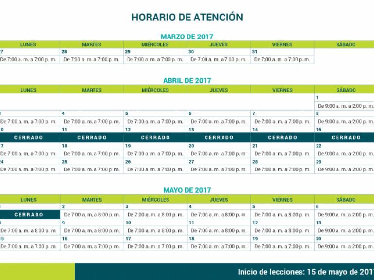Horarios Matrícula IIC-2017