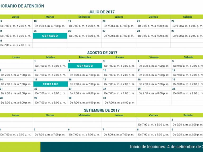Horarios atención IIC-2017