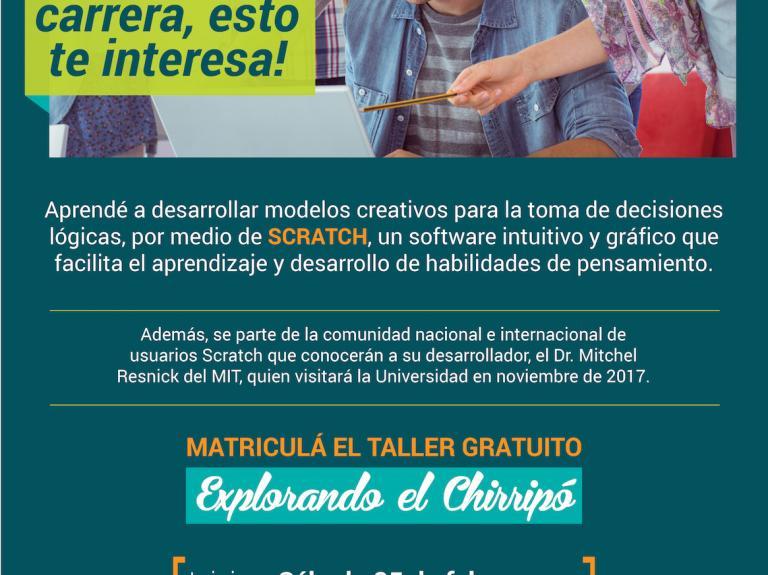 Taller Gratuito de Scratch- Explorando el Chirripó
